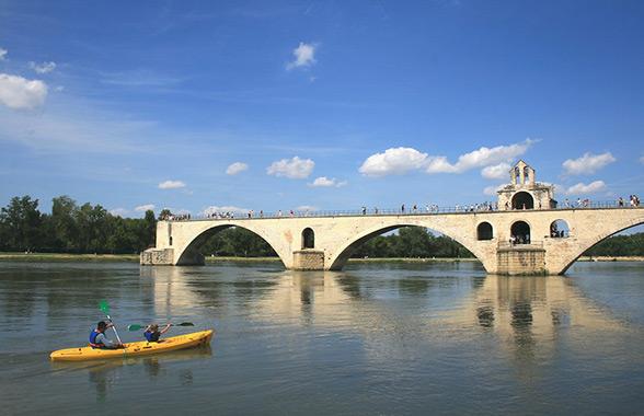 canoë à Avignon