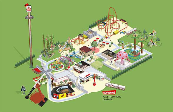 plan du parc spirou en Provence